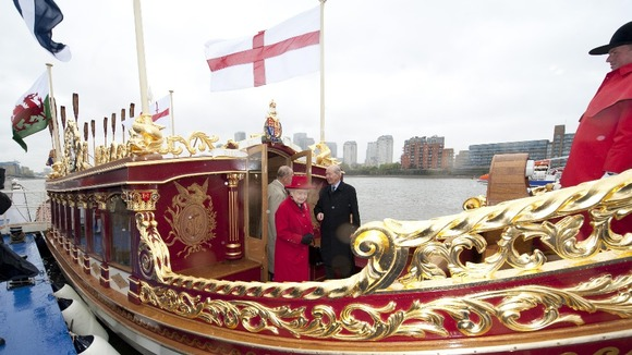 Queen Elizabeth II and the Duke of Edinburgh visit Gloriana,