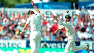 Shane Watson and Nathan Lyon in action