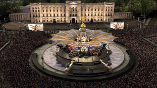 An artist's impression of the Queen's Diamond Jubilee Concert