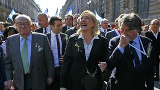 France's far-right National Front candidate for the presidential election Marine Le Pen