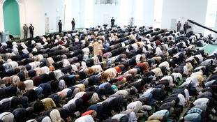 Special prayers were said for Lee Rigby by the thousands of Muslims who attended