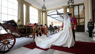 Duchess of Cambridge travelled in the 1902 State Landau on their wedding day