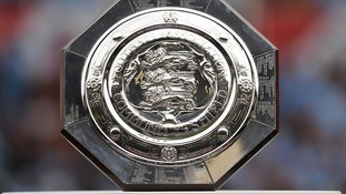 The FA Community Shield on its plinth