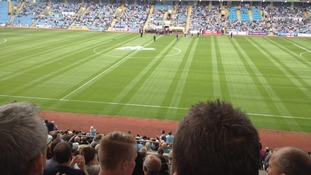 The Ricoh Arena just before kick-off of a 130th anniversary match