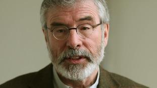 Sinn Fein leader Gerry Adams .