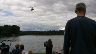 The Sea King RAF helicopter puts on a show