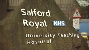 Salford Hospital Sign