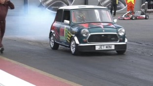 Mini in the Park event at Santa Pod Raceway in Northamptonshire.