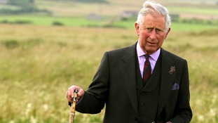 The Prince of Wales during a visit to Greenland Meadow earlier this month.