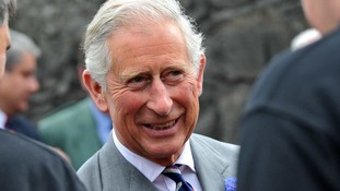 The Prince of Wales during his visit to the Glenmorangie Distillery in Tain.