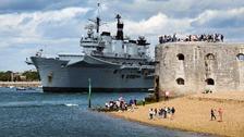 Ship leaves Portsmouth