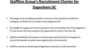 Staffline Group's Recruitment Charter for  Dagenham DC.