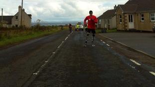 Richard Whitehead sets off from John O'Groats.