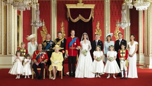 The Royal Wedding group after Prince William and Kate Middleton's nuptials on 29th April 2011