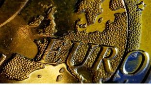 A Euro coin.