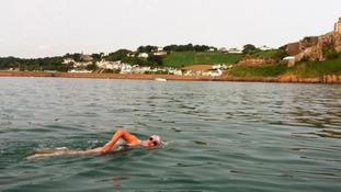 swimmer in sea
