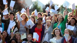 students celebrate results