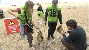 Clean Cornwall beach clean up