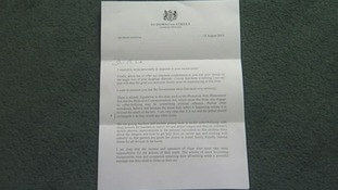 The letter written by the Prime Minister to Dave Smith