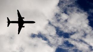 A passenger jet leaves Newcastle Airport en route to Sharm el-Sheikh.