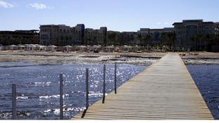 The beach in Sahl Hasheesh, Hurghada, Egypt.
