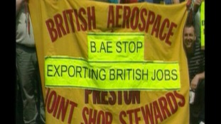 BAE workers stage protest