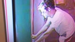CCTV of burglar