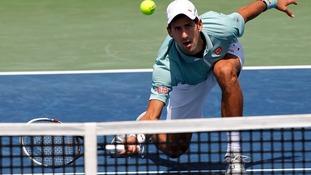 World No. 1 Novak Djokovic was beaten by home favourite John Isner.