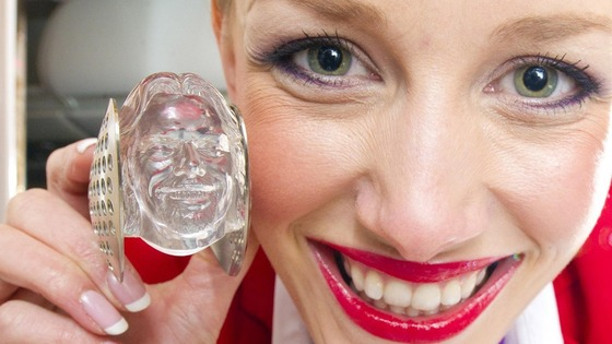 Ice cube created in the image of Virgin boss Sir Richard Branson