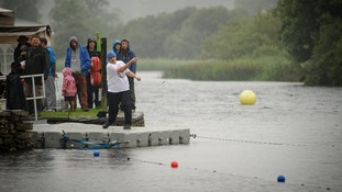 Current world record holder Ron Long competes in Windermere, Cumbria