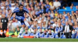 Frank Lampard scores his side's second goal