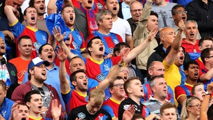 Full support from the Crystal Palace fans