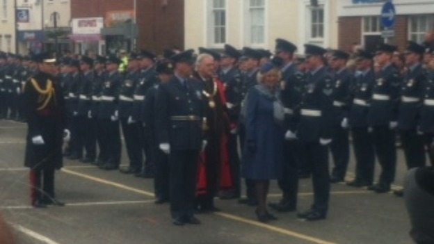 Troops being inspected