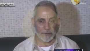 A man said to be the spiritual leader of Egypt's Muslim Brotherhood Mohamed Badie.
