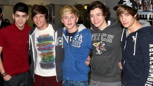One Direction pictured in the early days, back in January 2011.
