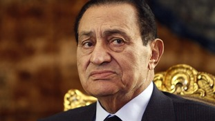 Ousted Egyptian president Hosni Mubarak pictured in October 2010.