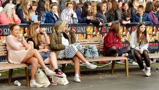 The premiere of One Direction: This Is Us takes place in Leicester Square.