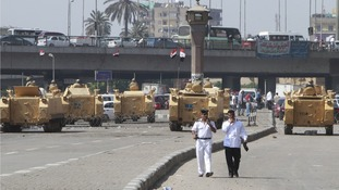 Military checkpoints have been set up around Cairo.