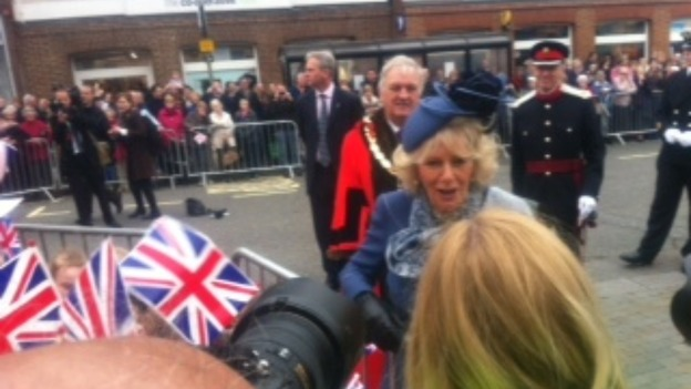 The Duchess of Cornwall and crowds