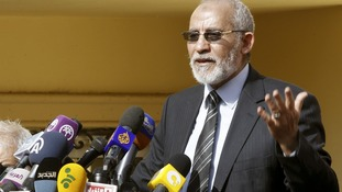 Mohamed Badie speaking in December last year.