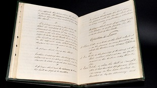 The 1863 FA Minute Book has pride of place alongside the Magna Carta and Shakespeare First Folio