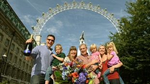 The Anderson family were the 50 millionth on board the London Eye