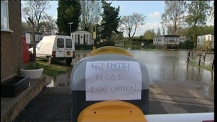 Residents at Billing Aquadrome were forced to leave their caravans because of flooding