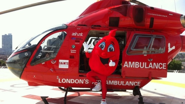 London air ambulances will now carry blood to the scene of accidents 