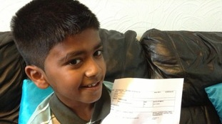 Nine-year-old Abhinav Santhiramohan, from Luton, was awarded an A* in GCSE maths.
