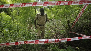 Police search the area near where a photojournalist was raped in Mumbai.
