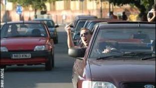 An irate motorist
