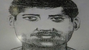 Police in Mumbai released this sketch of a suspect based on the description given.