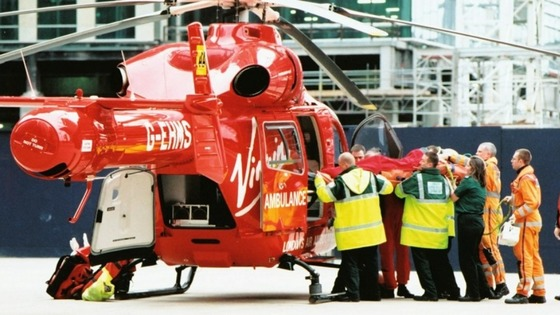 The London Air Ambulance will now carry blood to the scene of accidents 
