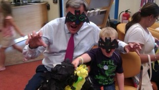 Ed Balls pictured at storytime at Tingley Library near Leeds.
